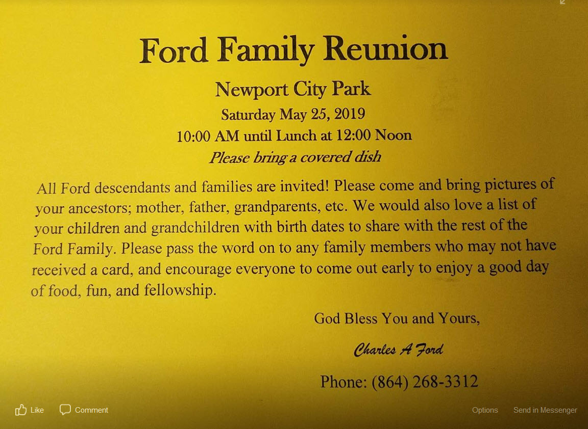 Ford Family Reunion